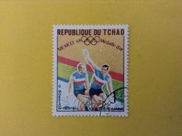 1968 CIAD TCHAD FRANCOBOLLO USATO STAMP USED SPORT CICLISMO MEDAGLIA D'ORO OLIMPIADI MESSICO 1 - Ciad (1960-...)
