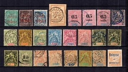 Madagascar Belle Petite Collection D'anciens 1891/1912. Bonnes Valeurs. B/TB. A Saisir! - Madagascar (1889-1960)