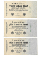 Germany, Reichsbanknote, 500 Marks X 3 From 1922 (bnk003) - [ 3] 1918-1933 : Repubblica  Di Weimar
