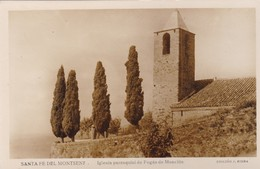 Postcard Santa Fe Del Montseny Iglesia Parroquial De Fogas De Monclus Real Foto By Riera My Ref  B12419 - Other