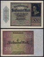 Reichsbanknote - 500 Mark 1922 Ros. 70 Pick 73  VF   (15423 - Allemagne