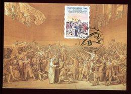Saint Marin - Carte Maximum 1989 - Révolution Française - Lettres & Documents