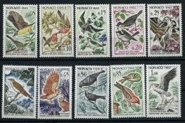 """Monaco YT 581 à 590 """" Protection Des Oiseaux Utiles """" 1962 Neuf** - Neufs"""