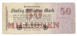 Germany, Reichsbanknote, 50 Million Marks From 1923 - [ 3] 1918-1933: Weimarrepubliek