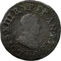 Monnaie, France, Louis XIII, Double Tournois, 1614, Paris, TB+, Cuivre - 1610-1643 Louis XIII Le Juste