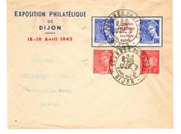 France Enveloppe Expo De Dijon Journée Du Timbre 1942. B/TB. A Saisir! - Frankreich