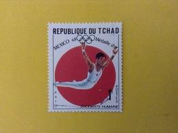 1968 CIAD TCHAD FRANCOBOLLO NUOVO STAMP NEW MNH** SPORT ATLETICA MEDAGLIA D'ORO OLIMPIADI MESSICO 1 - Ciad (1960-...)