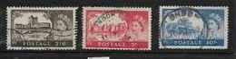 Great Britain, Elizabeth II, 1958, 2/6, 5/=, 10/=, Castles High Values,  De La Rue Ptg, Used - Used Stamps