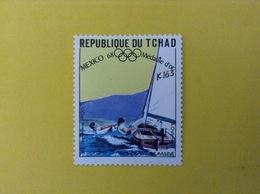 1968 CIAD TCHAD FRANCOBOLLO NUOVO STAMP NEW MNH** SPORT REGATA MEDAGLIA D'ORO OLIMPIADI MESSICO 1 - Ciad (1960-...)