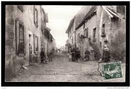 CPA ANCIENNE FRANCE- CHATILLON SUR LOIRE (45)- LA VIEILLE RUE DE NANERAY- TRES GROS PLAN ET BELLE ANIMATION- - Chatillon Sur Loire