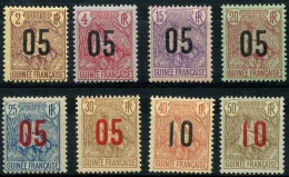 Guinée (1912) N 55 à 62 * (charniere) - Unused Stamps