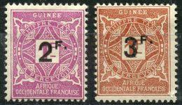 Guinée (1927) Taxe N 24 à 25 * (charniere) - Guinée Française (1892-1944)