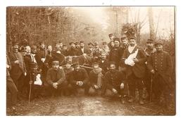 Carte Photo Militaires, Blessés, Hopital Temporaire Deauville Grand Royal 1914 - 1915  - Scans Recto Verso - Deauville