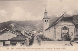 Cp , 74 , LES CONTAMINES-sur-SAINT-GERVAIS , L'Église - Francia