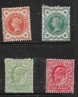 Great Britain, Queen Victoria, Jubilee Issue, Both Colours Of 1/2d,, EVIIR 1/2d, 1d MH * Adhesions To Gum - Neufs