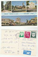 1970s ISRAEL Stamps COVER (posctard RISHON LE ZION  SYNAGOGUE, CITY CENTRE BUS)  To USA Religion - Israel