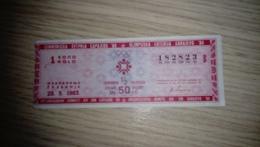 Yugoslavia XIV Olympic Winter Games Sarajevo 1984. Lottery Ticket,1983. - Loterijbiljetten