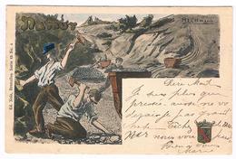 CPA Dos Non Divisé Rare : NAMUR - Illustration D'une Carrière Par H.L. Ottmann Peintre Français - Namur