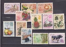 Cuba Nº 1328 Al 1339 Con Manchas En La Goma - Cuba