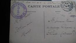 CPA La Flèche Château De Bouchevereau Cachet 28 Régiment Territorial D'infanterie 13ieme Cie Compagnie 1916 - Marcophilie (Lettres)