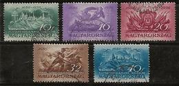 Hongrie 1936  N°Y.T. : 479 à 483 Obl. - Ungarn