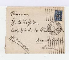 Sur Enveloppe Empire Russe Armoirie 10 K. Bleu Foncé. Oblitération Russe Mockba 1914. (622) - 1857-1916 Empire