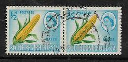 S.Rhodesia,  1964, 1/2d, Maize, Pair Good C.d.s. Used - Rhodésie Du Sud (...-1964)