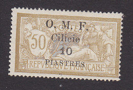 Cilica, Scott #125, Mint Hinged, French Stamp Surcharged, Issued 1920 - Cilicie (1919-1921)