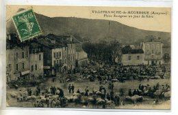 12-01 VILLEFRANCHE De ROUERGUE  Jour De Foire Aux Moutons PLace Savignac 1922 écrite Timbrée    /D10-2016 - Villefranche De Rouergue