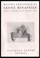 VENEZIA - 1948 - OPUSCOLO (8 Facciate Con 7 Immagini) MOSTRA GALLERIA SANDRI - LEONE MINASSIAN (PERSONALE) - Programmi