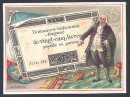 ASSIGNAT De VINGT CINQ LIVRES Chromo Bognard Paris. MIRABEAU - Monnaies (représentations)