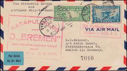 Katapultpost Katapultflug Dampfer BREMEN Nach Bremen 2.8.1929 - Haberer 2a - Briefmarken
