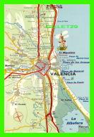 MAP, CARTE GÉOGRAPHIQUE - VALENCIA - COSTA BLANCA - POSTALES TURISTICAS FIRESTONE - - Cartes Géographiques