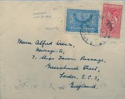 1938 , ARABIA SAUDITA , SOBRE CIRCULADO ENTRE DJEDDAH Y LONDRES , TRÁNSITO AL DORSO. - Arabia Saudita