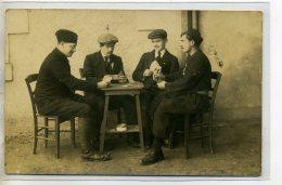 37-32 TOURS Photo BOIDRON  CARTE PHOTO La Partie De Cartes Joueurs Nommés 1910 - JEU   /D01-2016 - Cartas