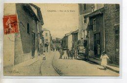 42-01 CHAZELLES Jolie Anim Rue De La Gare Pres Commerce 1908 écrite Et Timb     /D02-2016 - France