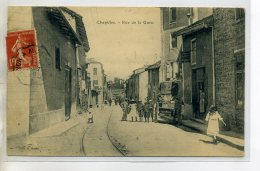 42-01 CHAZELLES Jolie Anim Rue De La Gare Pres Commerce 1908 écrite Et Timb     /D02-2016 - Francia