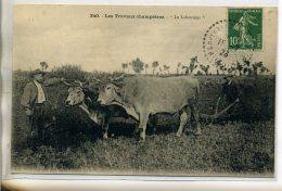 43-02 AGRICULTURE 340 MB- Le Laboureur Attelage Boeufs Les TRavaux Champetres 1923  écrite  CHavaniac  /D05-2016 - Frankreich
