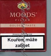 1-52 CZECH REPUBLIC 2018 - MOODS Filter 20 Pcs Cigarillos  - Empty Cigarettes Carton Box - Dannemann GmbH Germany - Zigarettenetuis (leer)