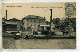 54-03 EINVILLE Péniche Batellerie Quai Les Salines Usines 1906 écrite Et Timb    /D04-2016 - Andere Gemeenten