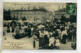 54-05 LUNEVILLE Beau Plan Marché PLace Léopold Marchandes Légumes 1909 écrite Et Timb    /D04-2016 - Luneville