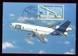 Gabon - Carte Maximum 1973 - Avion - Gabon (1960-...)