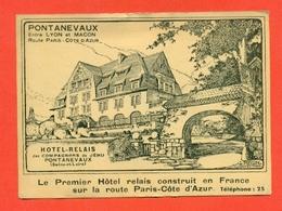 PONTANEVAUX-HOTEL RELAIS  PUBBLICITARIE - Francia