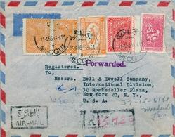 1956 ARABIA SAUDITA , SOBRE CERTIFICADO ENTRE LA MECA Y NUEVA YORK , LLEGADA AL DORSO - Arabia Saudita