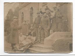 Photo Ancienne Militaires Brancard Au Verso LAIGLE Orne 1915 - War, Military