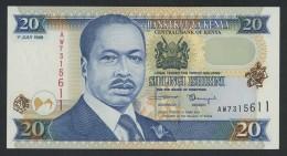 (Kenya) 20 Shillings Shilingi Ishirini 1998 . UNC . - Kenya