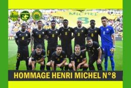 CARTE D'EQUIPE DE . FC. NANTES *44* FRANCE  LE .6-05-2018 CONTRE MONTPELLIER EN HOMMAGE A HENRI MICHEL  # CE. 070 - Soccer