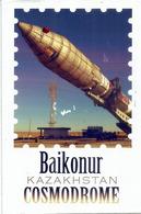Baikonur Cosmodrome Kazakhstan, Belle Carte Postale Du Cosmodrome, Adressée Andorra Avec Timbre à Date Arrivée - Kazakhstan