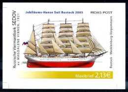A14507)Schiffe: Bundesrepublik Privatpost Ridas 1 Block** - Schiffe
