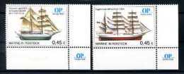 A14529)Schiffe: Bundesrepublik Privatpost Ostsee-Post 2 Werte** - Schiffe